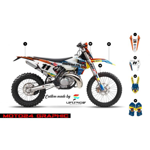 Graphics Lets Ride Moto24 Graphics Kit for KTM