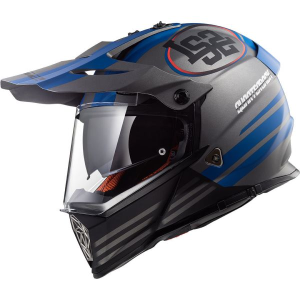 Casti ATV LS2 Casca ATV MX436 Pioneer Qarterback Black/Red/Blue
