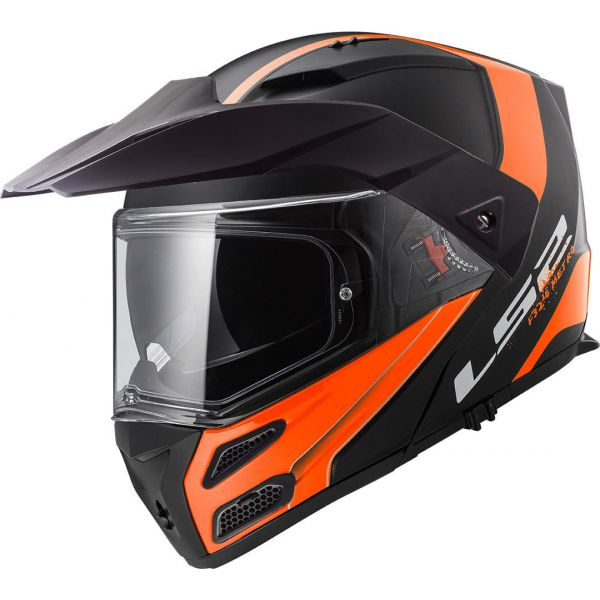 Casti ATV LS2 Casca Flip-Up FF324 Metro Evo Rapid Matt Black/Orange 2019