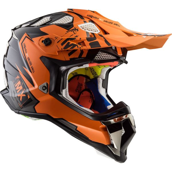 Casti MX-Enduro LS2 Casca MX470 Subverter Emperor Black/Orange 2019