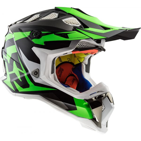 Casti MX-Enduro LS2 Casca MX470 Subverter Nimble Black/White/Green 2019