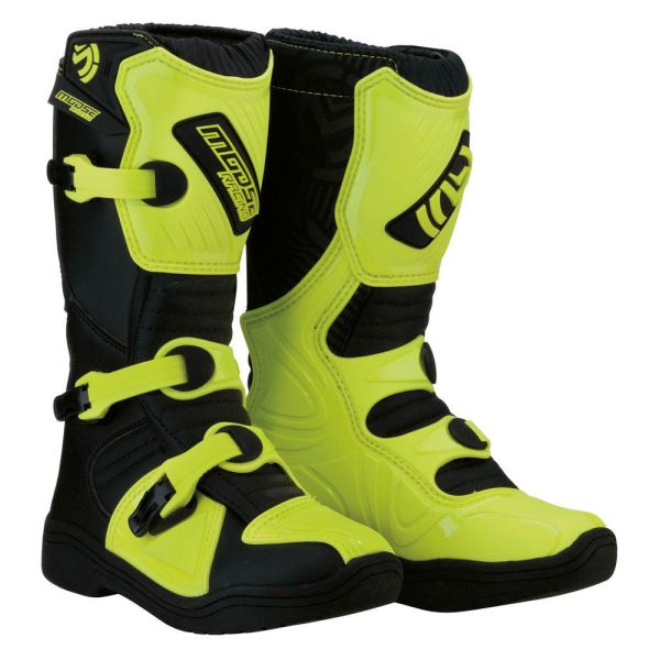 Moose Racing Cizme M.1 3 S8 Black/Yellow Copii