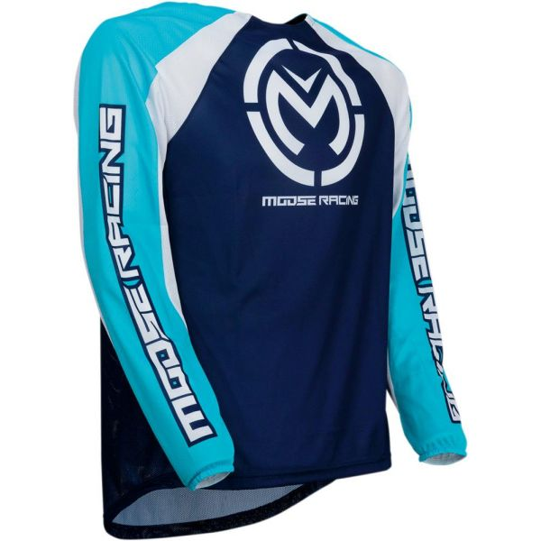Moose Racing Tricou M1 Blue/White S9