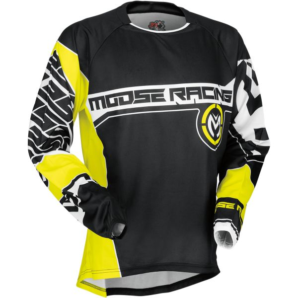 Tricouri MX-Enduro Moose Racing Tricou S7 Qualifier Black/Yellow