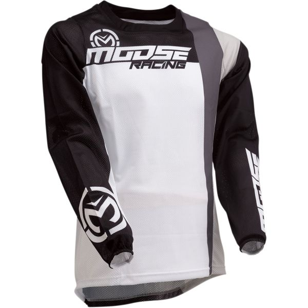 Moose Racing Tricou Sahara S20 White/Black