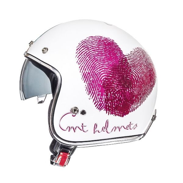 MT Helmets Casca Le Mans SV Love White/Red/Pink Gloss