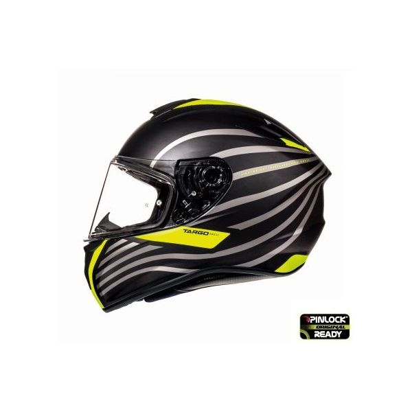 MT Helmets Targo Doppler Black/Yellow Mat Helmet