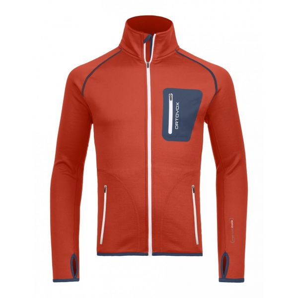 Ortovox Bluza Merino Fleece Jacket Crazy Orange
