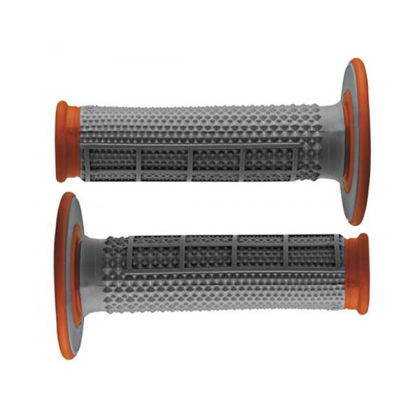 Manete si Comenzi MX Renthal Mansoane MX Dual Layer Tapered Gray/Orange