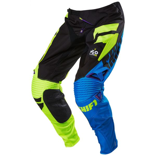 Pantaloni MX-Enduro Shift LICHIDARE STOC Pantaloni Shift Faction Purple/Yellow