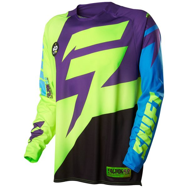 Tricouri MX-Enduro Shift LICHIDARE STOC Tricou Faction Green/Purple