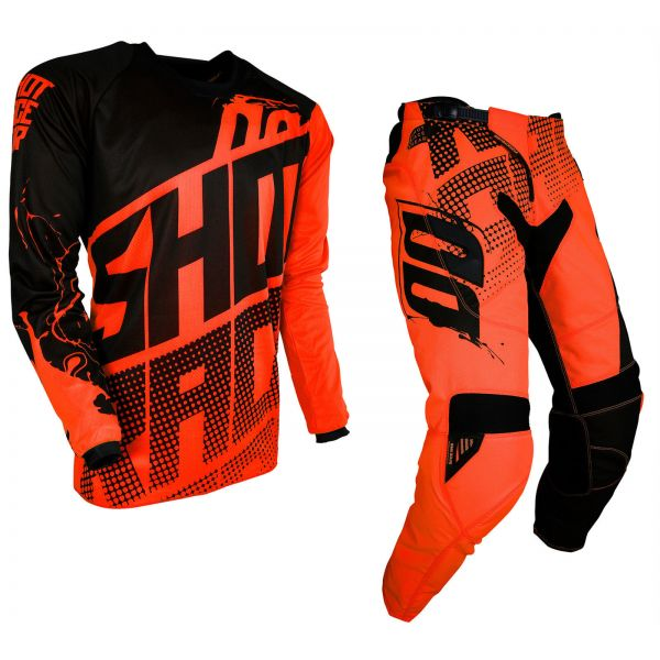 Combo MX Enduro Shot Racing Combo Tricou + Pantaloni Venom Neon Orange 2019