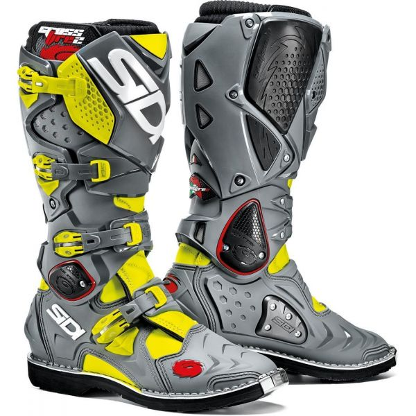 Sidi Cizme Crossfire 2 Black/Gray/Yellow