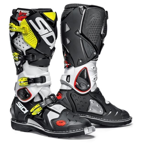 Cizme MX-Enduro Sidi Cizme Crossfire 2 White/Black/Yellow
