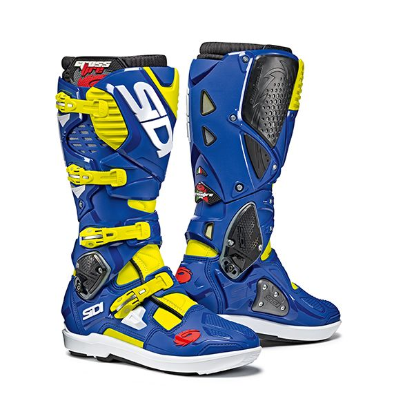 Sidi Cizme Crossfire 3 Yellow Flow/Blue SRS 2019