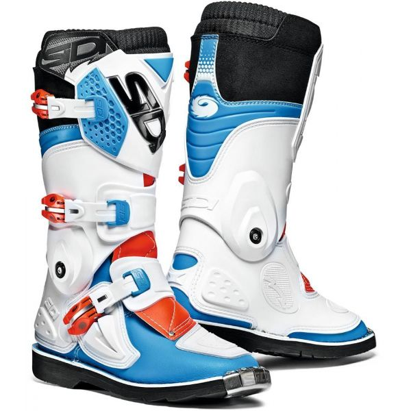 Sidi Cizme Flame White/Red/Blue Copii