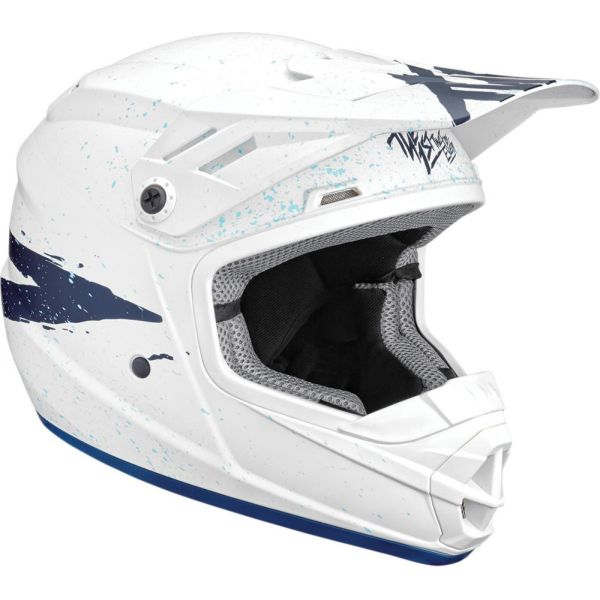 Thor Casca Sector Hype White/Blue Matte S9 Copii