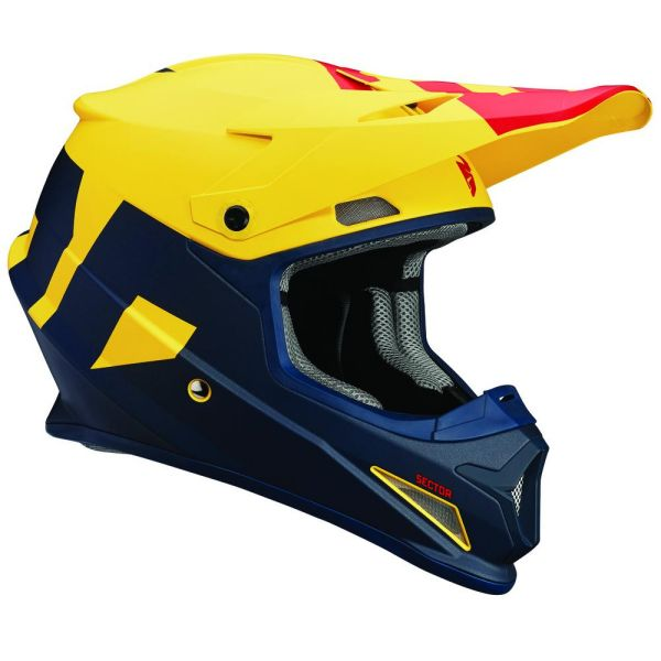 Casti MX-Enduro Thor Casca Sector Level Navy/Yellow S8