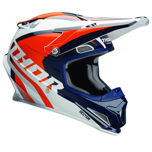 Casti MX-Enduro Thor Casca Sector Ricochet Navy/Orange S8