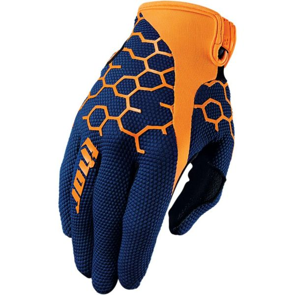 Manusi MX-Enduro Thor LICHIDARE STOC Manusi S7 Draft Navy/Orange