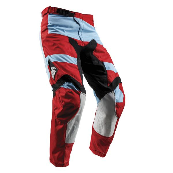 Thor LICHIDARE STOC Pantaloni Pulse Level Powder Blue/Red S8