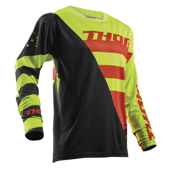 Thor LICHIDARE STOC Tricou Fuse Air Rive Lime/Orange S8