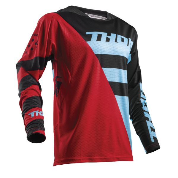 Thor LICHIDARE STOC Tricou Fuse Air Rive Red/Blue S8