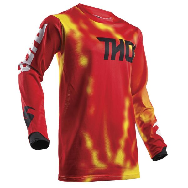 Thor LICHIDARE STOC Tricou Pulse Air Radiate Red S8 Copii