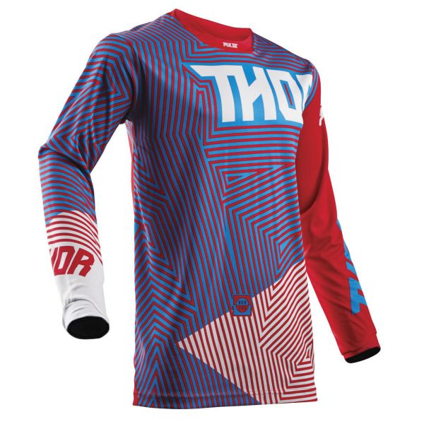 Thor LICHIDARE STOC Tricou Pulse Geotec Red/Blue S8 Copii
