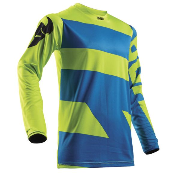 Thor LICHIDARE STOC Tricou Pulse Level Electric Blue/Lime S8 Copii