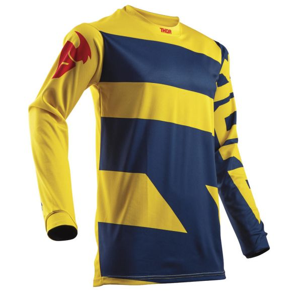 Thor LICHIDARE STOC Tricou Pulse Level Navy/Yellow S8 Copii