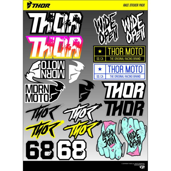 Thor Stickere Race Decal