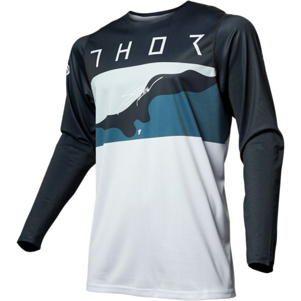 Thor Tricou Prime Pro Fighter Blue Camo 2019