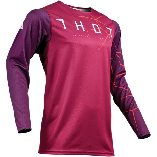 Thor Tricou Prime Pro Infection Maroon/Red Orange S9