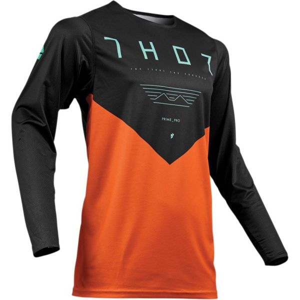 Thor Tricou Prime Pro Jet Black/Orange S9