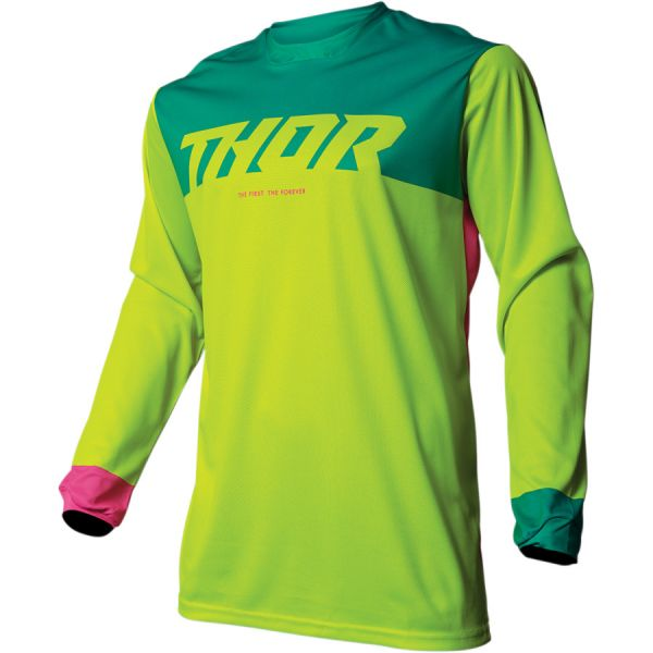 Thor Tricou Pulse Factor S9S Acid/Teal 2019