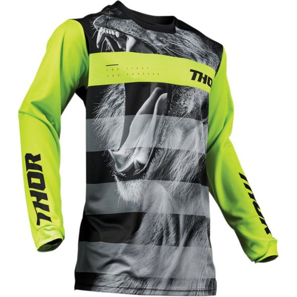 Thor Tricou Pulse Savage Big Kat Black/Lime S9