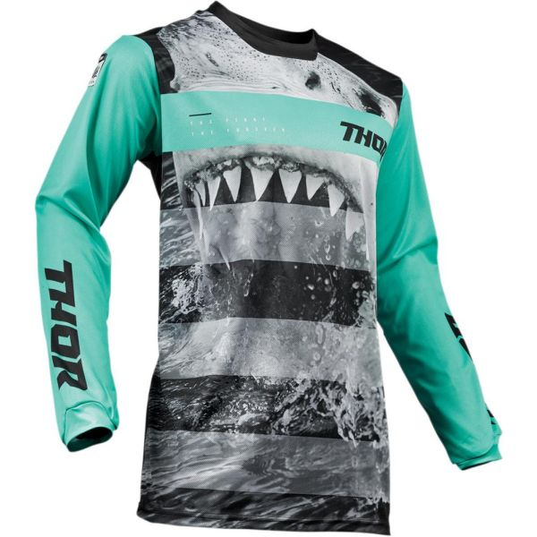 Thor Tricou Pulse Savage Jaws Mint/Black S9