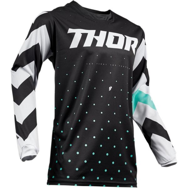 Thor Tricou Pulse Stunner Black/White S9