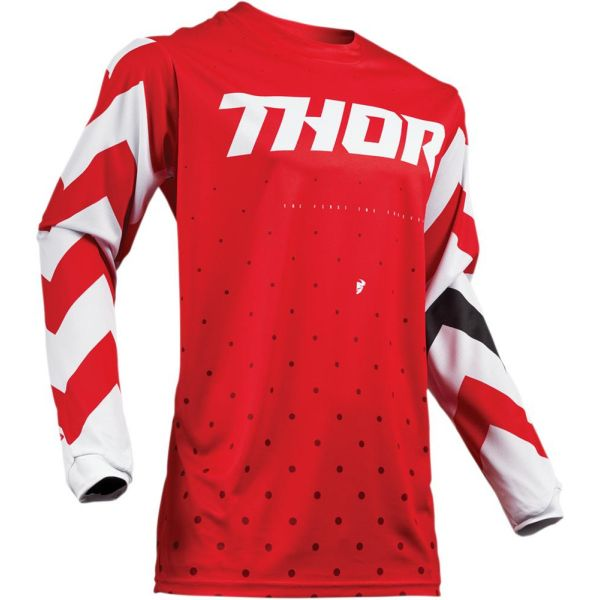 Thor Tricou Pulse Stunner Red/White S9