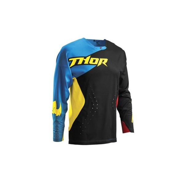 Tricouri MX-Enduro Thor Tricou S6 Core Air Divide Negru-Albastru
