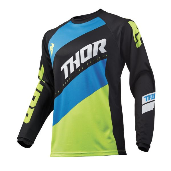 Thor Tricou Sector Shear Black/Acid S9 Copii