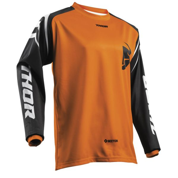 Tricouri MX-Enduro Thor Tricou Sector Zones Orange S8