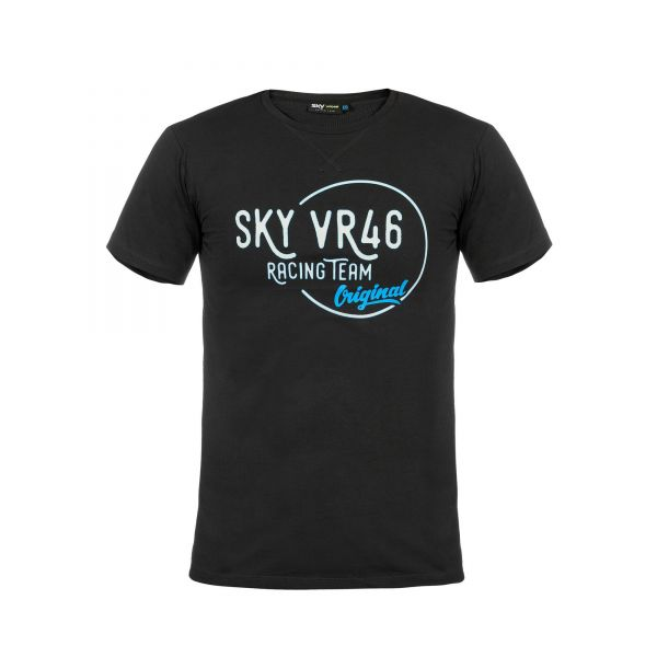 VR46 Tricou Sky Ongoing Black SKMTS285220NF